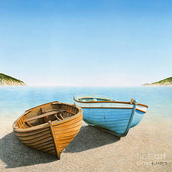 Two Boats on the Beach by Horacio Cardozo