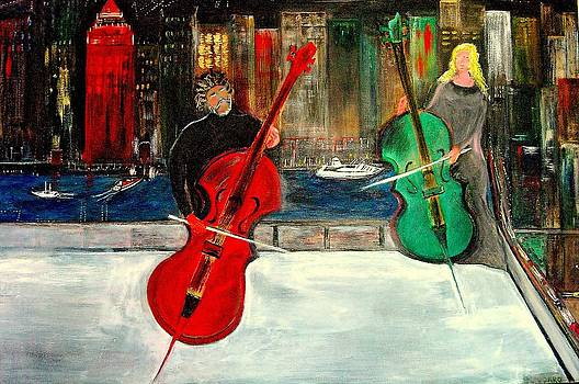 Rick Todaro - Two  Cello Players  Rooftop