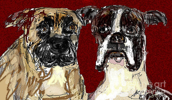Two Dogs by Joyce Goldin