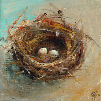 Two Egg Nest by Cari Humphry