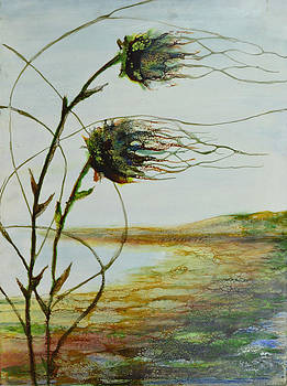 Two Flowers by the Bay by Jennifer  Creech
