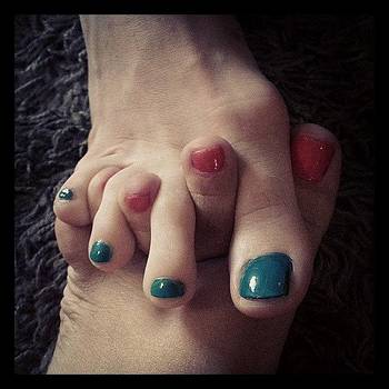 Two Girl Foot Hug :) #feetfetish by Alli Flynn