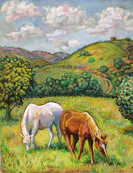 Two Grazing by Karen McKean