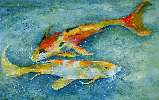 Two Koi by Vallee Johnson