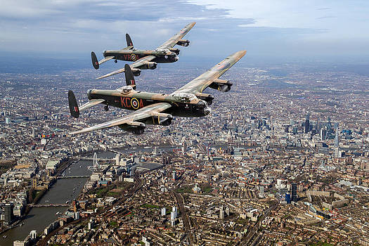 Gary Eason - Two Lancasters over London