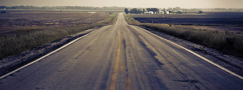 Two Lane Road by George Strohl