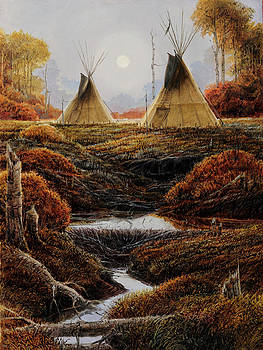 Two Lodges by Steve Spencer