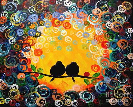 Two love birds by Mariana Stauffer