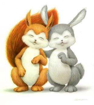 Two lovely friends by Eldar Zakirov
