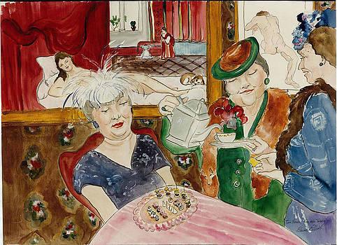 Two Nudes Tea and Treats by Elaine Elliott