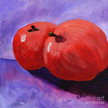 Two Red Apples by Claire Bull