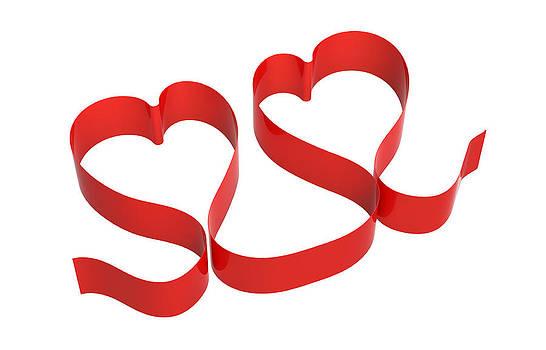Two red hearts by Borislav Marinic