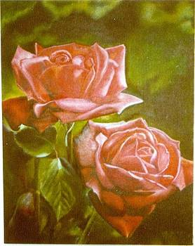 Two Red Roses by Geri Jones