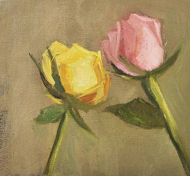 Two Roses by Joyce Colburn