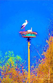 Algirdas Lukas - Two Storks 19