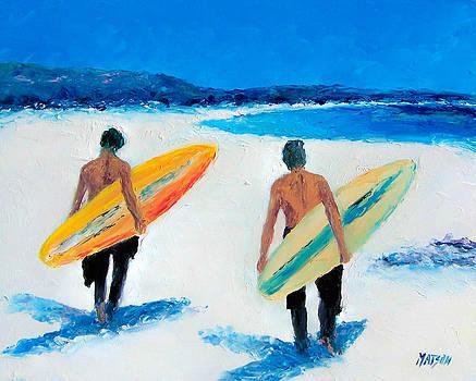 Jan Matson - Two Surfers at Byron Bay