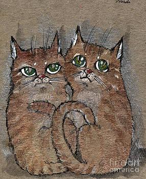 Angel  Tarantella - two tabby cats