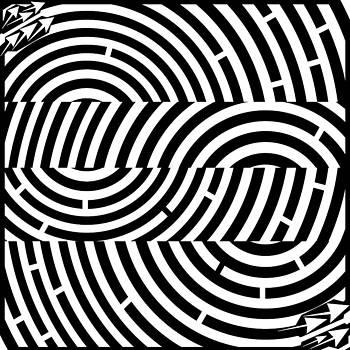 Two Tunnel Illusion Maze  by Yonatan Frimer Maze Artist