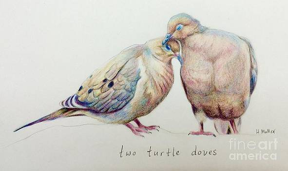 Two Turtle Doves by Harriet Muller