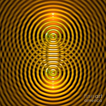 Two Wave Sources Creating Interference Patterns 5 by Russell Kightley
