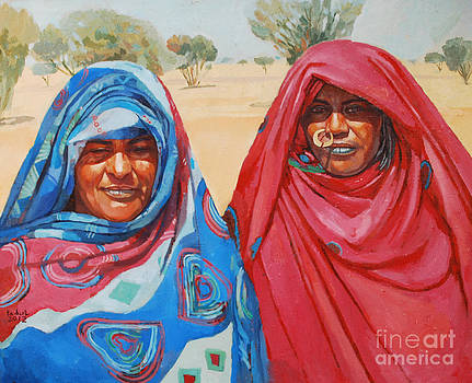 Two women 2 by Mohamed Fadul