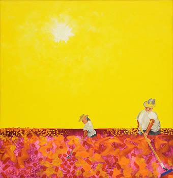 Two Women Hoein' by Anguspaul Reynolds