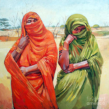 Two women by Mohamed Fadul