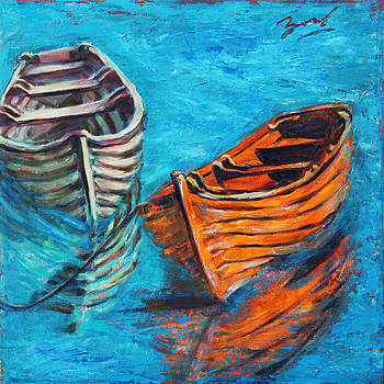 Two Wood Boats by Xueling Zou