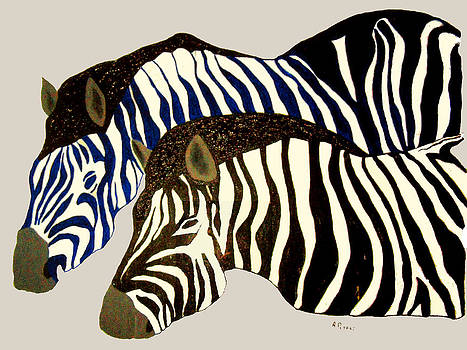 Two Zebras by Andrew Petras