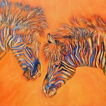 Two Zebras by Maris Sherwood