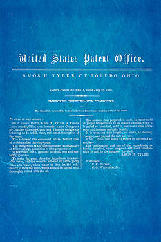 Ian Monk - Tyler Ohio Chewing Gum Patent Art 1869 Blueprint