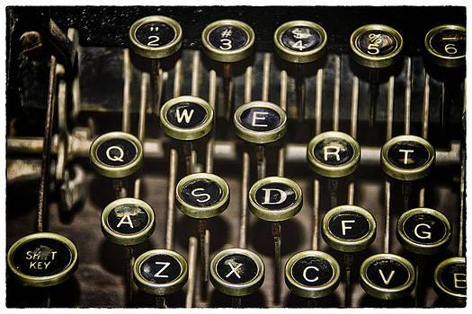 Typewriter Keys by Jeanne Hoadley