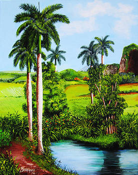 Typical country Cuban landscape by Dominica Alcantara