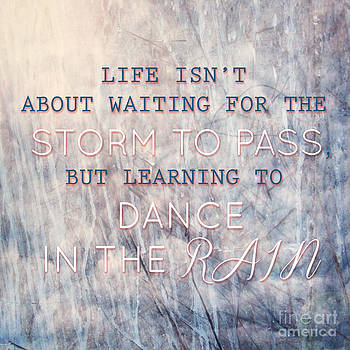 Sophie McAulay - Typographic quote learning to dance in the rain