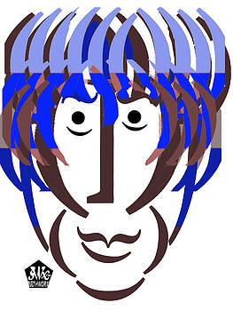 Typortraiture George Harrison by Seth Weaver