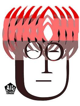 Typortraiture John Lennon by Seth Weaver