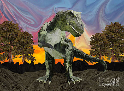 Tyrannosaurus Rex at the Twilight Hour by Sherin  Hylan