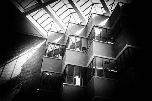 Lynn Palmer - Uf Marston Science Library Folded Window Wall in BW