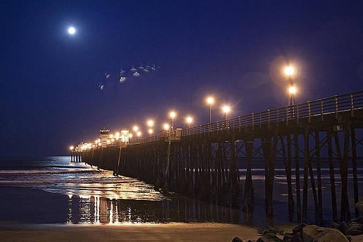 UFO's Over Oceanside Pier by Ann Patterson