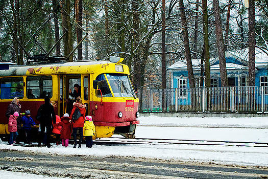 Ukraine Winter Trolley by Brian Orlovich