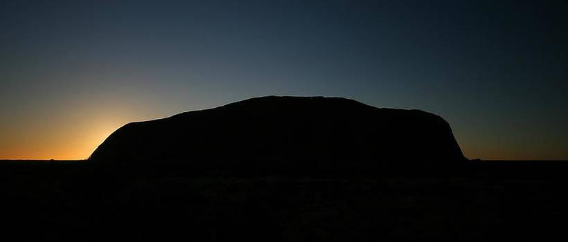 Uluru Sunset Silhouette by Carl Koenig