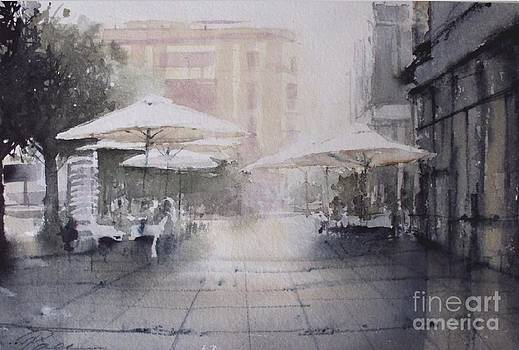 Umbrellas in Badajoz SPAIN by Paez De Pruna