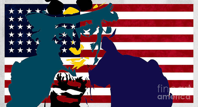 Uncle Sam and The Stars and Stripes by T Lang