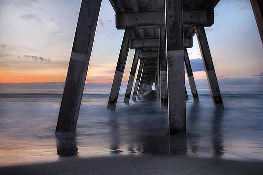 Under Johnnie Mercer's Pier Wrightsville Beach NC by Craig Bowman
