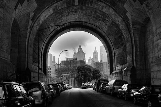 New York City - Manhattan Bridge - Under by Dave Beckerman
