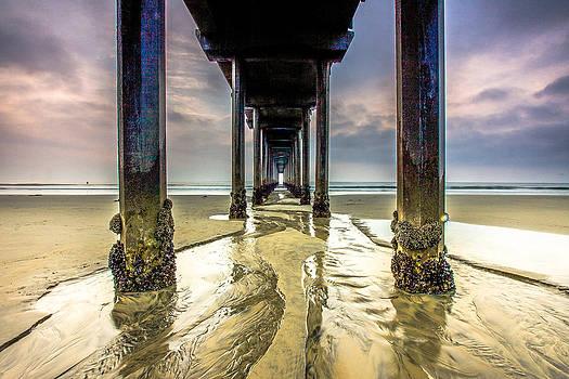 Under Scripps Pier by Robert  Aycock