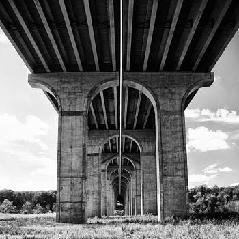 Under The Bridge in High Contrast Black and White by Jeff Picoult