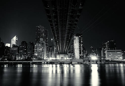 Under the Bridge - New York City Skyline and 59th Street Bridge by Vivienne Gucwa