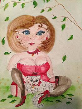 Smitten Playful Kitten by  Lady  Ann