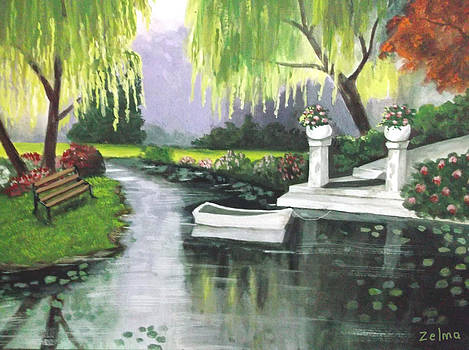 Under The Weeping Willows by Zelma Hensel